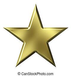 złoty, gwiazda