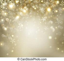 złoty, gwiazdy, zatracony, tło, święto, boże narodzenie