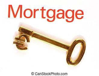 złoty, hipoteka, euro, klucz