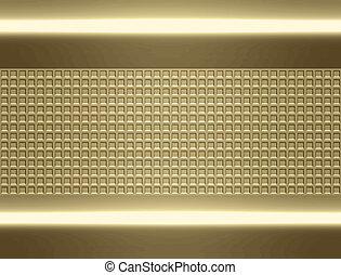 złoty, metal, tło, struktura