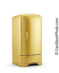 złoty, odizolowany, chłodnia