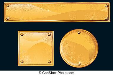 złoty, płyty