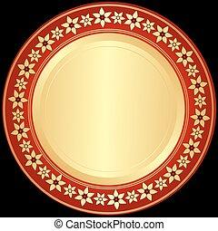 złoty, red-black, ułożyć