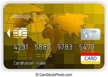 złoty, rywalizować, kredyt, wektor, przód, bilety