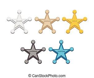 złoty, , srebro, brąz, symbole, gwiazda