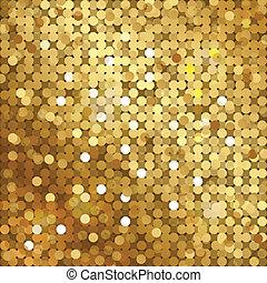 złoty, tło, cekiny