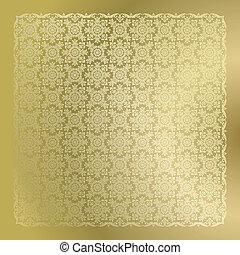 złoty, tapeta, seamless, adamaszek