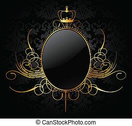 złoty, ułożyć, wektor, królewski, tło