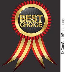 złoty, wybór, r, najlepszy, etykieta, czerwony