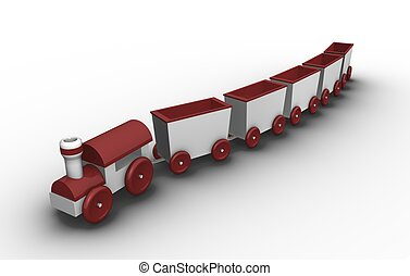 zabawkarski pociąg