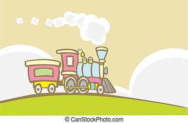 zabawkarski pociąg, retro
