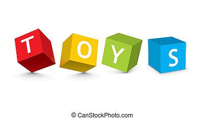 zabawkarskie kloce, ilustracja
