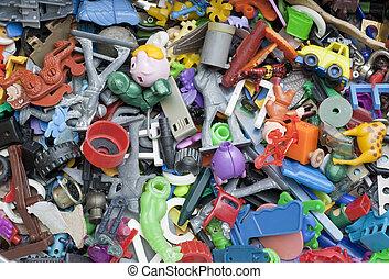 zabawki, stary, zapomniany, złamany