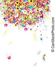 zabawny, święto, projektować, tło, balony, twój, szczęśliwy
