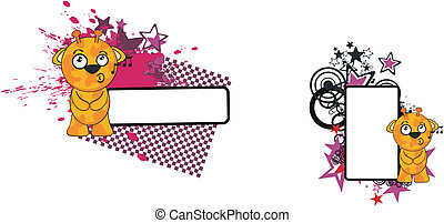 zabawny, żyrafa, rysunek, copyspace6