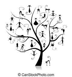 zabawny, 27, drzewo genealogiczne, sylwetka, koty, czarnoskóry
