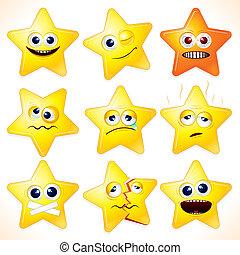 zabawny, gwiazdy