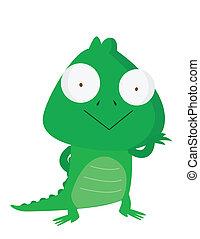 zabawny, krokodyl
