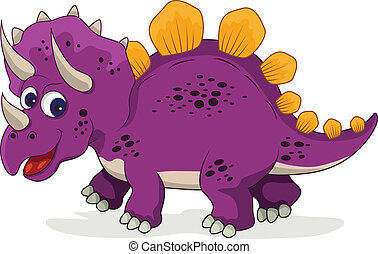 zabawny, rysunek, dinozaur