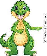 zabawny, rysunek, spoinowanie, krokodyl