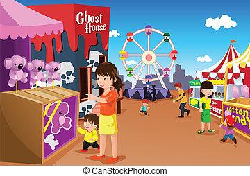 zabawowy park, interpretacja, rodzina