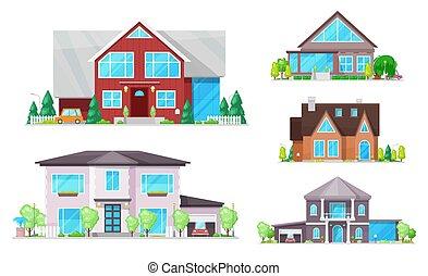 zabudowanie, okna, dachy, dom, chata, dom