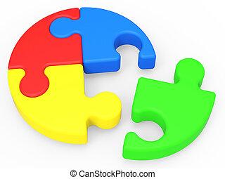 zagadka, rozwiązywanie, widać, niedokończony, zakończenie