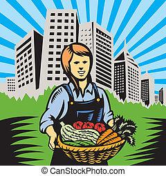 zagroda, organiczna produkcja, rolnik, żniwa
