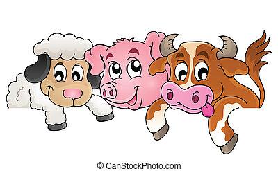zagroda, topic, wizerunek, 1, zwierzęta