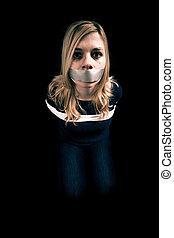 zakładnik, kobieta, porwany