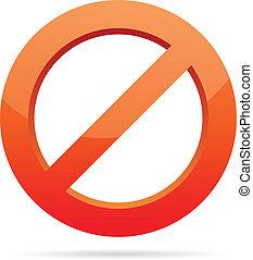 zakazany, zwyczaj, znak