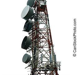 zakomunikowanie wieża, nowoczesny, (transmitter)