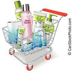 zakupy, kosmetyki, wóz