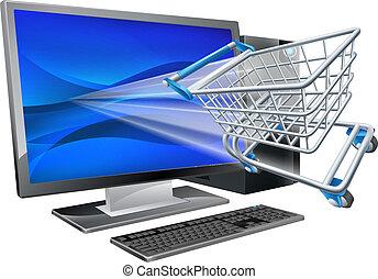 zakupy, pojęcie, komputer