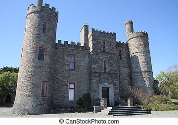 zamek, irlandzki, mieszkanie