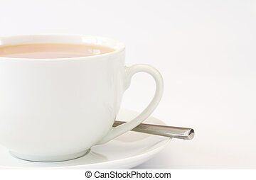 zamknięcie, herbata, wizerunek, do góry, filiżanka