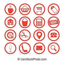 zaopatrywać, zbiór, ikona