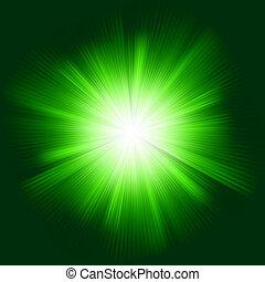 zaprojektujcie farbę, eps, burst., zielony, 8