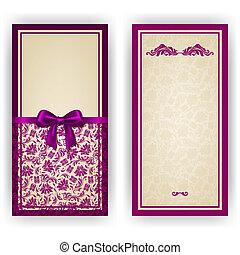zaproszenie, elegancki, wektor, luksus, szablon, karta