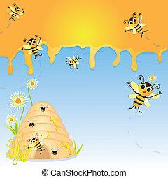 zaproszenie, partia, bumble pszczoła