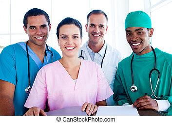 zaprzęg portret, pomyślny, praca, medyczny