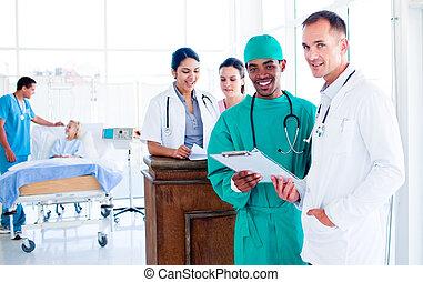 zaprzęg portret, praca, poważny, medyczny