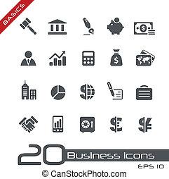 //, zasadniczy, finanse, handlowy, &, ikony
