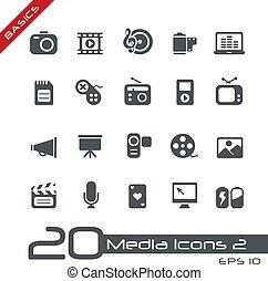 //, zasadniczy, multimedia, ikony