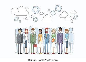 zasoby, ludzie handlowe, ludzki, drużyna, grupa, rozmaity