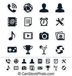 zastosowanie, ikony