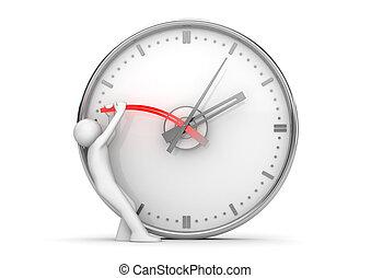 zatrzymanie, siła robocza, czas, zatrzymajcie zegar