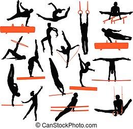 zbiór, gimnastyka, sylwetka