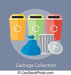 zbiór, recycling, puszki, odpadki