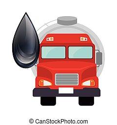 zbiornik, naftowy samochód